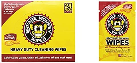 Grease Monkey Degreaser Wipes (Box of 24) by Grease Monkey