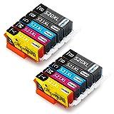 OfficeWorld Ersatz für Canon PGI-520 CLI-521 Druckerpatronen Kompatibel mit Canon Pixma MP550 MP540 MP560 MP620 MP620B MP630 MP640 MX860 MX870 iP3600 iP4600 iP4700