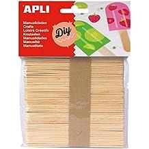 APLI - Bolsa palo polo natural, 50 uds