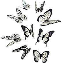 36 piezas 3D Etiqueta de la pared mariposa Muebles de bricolaje decoracion Etiqueta engomada de la