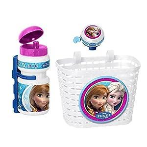 51qW ajCUoL. SS300 3 tlg Frozen Disney Frozen cestino da manubrio bici da bambino + BORRACCIA + campanello SET Sport