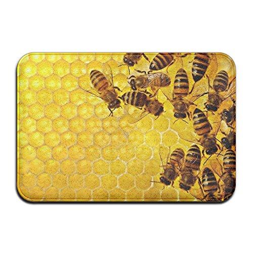 Vercxy Sweet Bee Honeycomb Fußmatten rutschfeste House Garden Gate Teppich Fußmatte Boden Pads (Schaumbad Sweet)