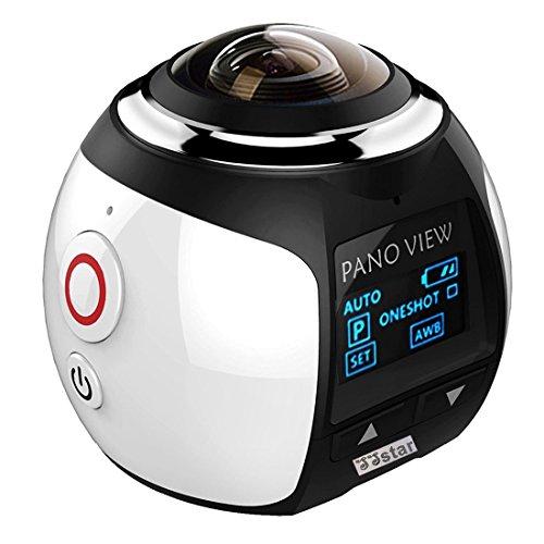 ssstar Action Kamera Camcorder 4K Wireless 360Grad WIFI Mini Ultra HD Panorama Sport Driving 3D VR Kamera Unterwasser
