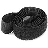 TiooDre Black Nylon Rope Belt Cargo Luggage Holder Fastener Straps with Self-Adhesive Sticker for Motorcycle Car Outdoor Camping Bags