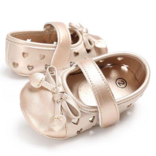 watch e5015 37732 ... BZLine® Baby Kleinkind kinder kleinkind mädchen Leder newborn Schuhe  Sneakers Gold ...