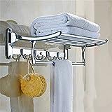 iamg _ mm Fächer für Badezimmer Handtuchhalter Edelstahl Bad, Balkon, Bad Anhänger Mehrzweck zusammenklappbar Allzweckkiste 2Etagen Anhänger Hardware Badezimmer -