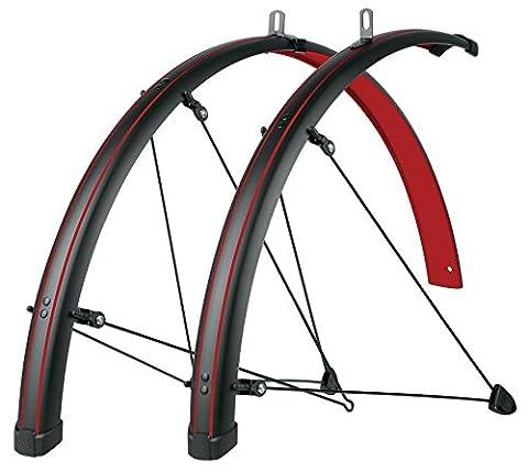 sks-germany Stachelrochen Fender Set rot 45mm mit rot Streifenbildung, schwarz