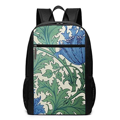 TRFashion Rucksack Morris Flowers Print Laptop Computer Backpack 17 Inch Fashion Casual Travel Daypack Laptop Bag Schoolbag Book Bag for Men Women Black - Kate Spade Notebook-tasche