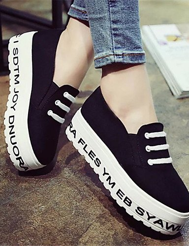 ZQ Scarpe Donna-Mocassini-Tempo libero / Casual / Scarpe comode-Creepers-Plateau-Di corda-Nero / Verde / Bianco , white-us8.5 / eu39 / uk6.5 / cn40 , white-us8.5 / eu39 / uk6.5 / cn40 black-us8 / eu39 / uk6 / cn39