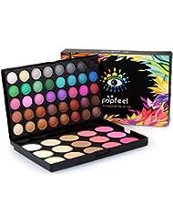 BOBORA 55 Couleurs Fards a Paupieres Matte Nude Colore Impermeable a L'ombre Maquillage Palette Set Face Eyes Blush + Powder + Shimmer