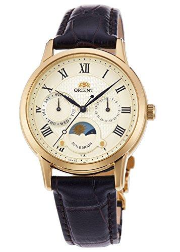 Orient clásica sol & luna cuarzo reloj de pulsera rn-ka0002s de la mujer
