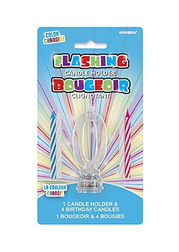 Unique, Farbwechselnde blinkende Geburtstagskerze Kerzenhalter mit 4Kerzen Preisvergleich