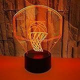 Licht Basketballkorb-Nachtlicht 3D Des Geschenks 3D Führte Nachtlicht Bunte Usb, Das Visuelle Kleine Tischlampe 3D Auflädt