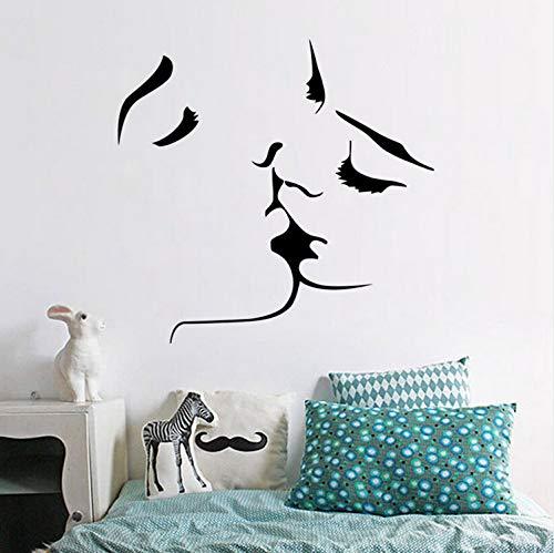 Beste Verkauf Geschnitzte Wandaufkleber kuss Persönlichkeit Kreative Aufkleber Wohnzimmer Schlafzimmer Dekoration Abnehmbare Aufkleber 57x55cm
