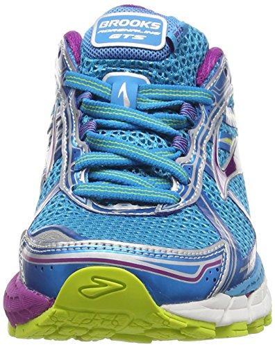 Brooks Adrenaline Gts 15, Chaussures de course femme Bleu (Hawaiian Ocean/Holly Hock/Lime Punch 498)