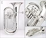 BB 3-valve in nickelled Euphonium Messing