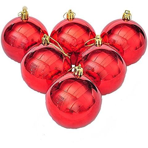 Decoraciones Para Árboles De Navidad Las Bolas Brillantes Rojo Inastillable Hogar Decoraciones Decoración Colgante Del Paquete De