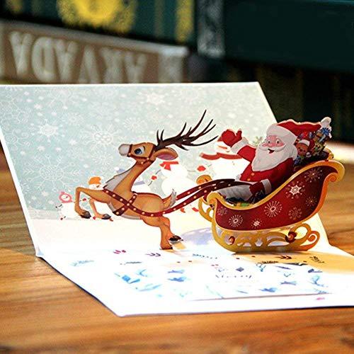 Gspirit 3d cartoline di natale pop up biglietti d'auguri & busta regali per natale (1)