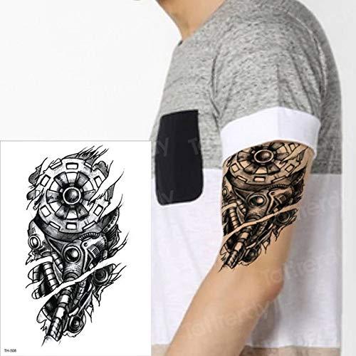 3pcsTattoo Wassertransfer Tattoo Aufkleber Arm Ärmel Tattoo Halloween schwarz männliche Tätowierung (Crafts Christian Halloween Einfach)