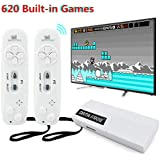 Leoie USB Wireless Handheld TV Video Game Console Build-in 620 Classic 8 Bit Game Mini Console Dual Gamepad AV Output