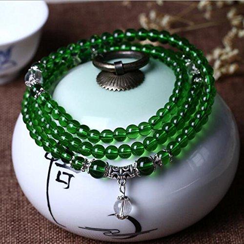 K&C 108 6mm perline di preghiera buddista tibetano Mala meditazione naturale collana di cintura verd