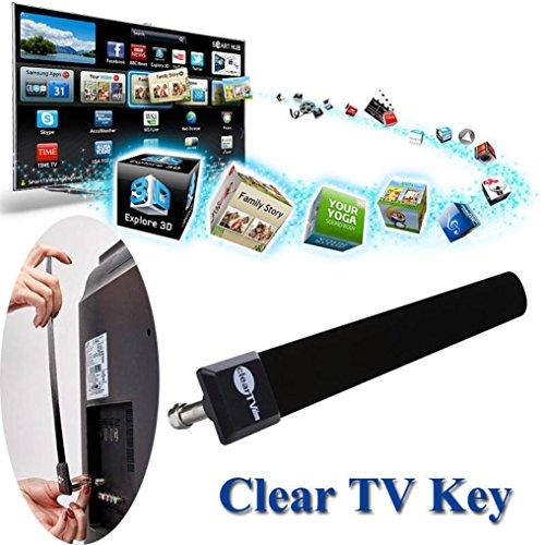 taottao klar TV Schlüssel HDTV Free-TV Digitales Innen-Antenne 1080P Ditch Kabel AS SEEN ON TV