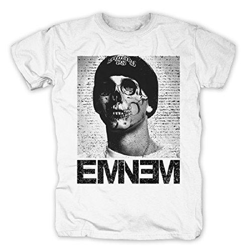 Eminem Skull T-Shirt (XXL, Weiß) - Slash Skull T-shirt