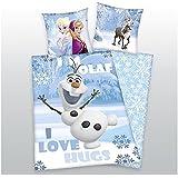 Licencia Ropa de cama Disney 's la Frozen Olaf el muñeco de nieve 135x 200cm Herding