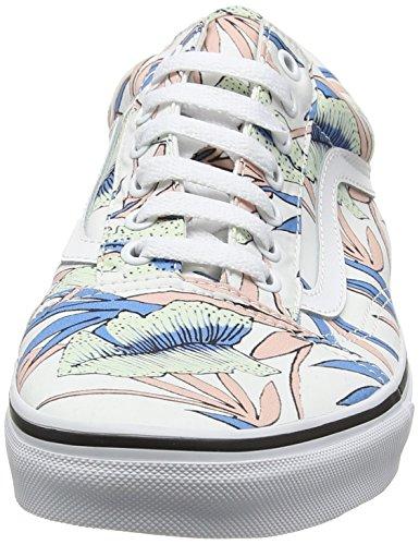 Vans Damen Ua Old Skool Sneakers Mehrfarbig (Tropical Leaves True White)