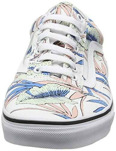 Vans UA Old Skool, Scarpe da Ginnastica Basse Donna Multicolore (Tropical Leaves True White)