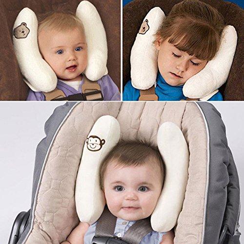 Morbido cuscino poggiatesta per neonati e bambini, supporto per protezione collo e testa, per seggiolino auto e passeggino