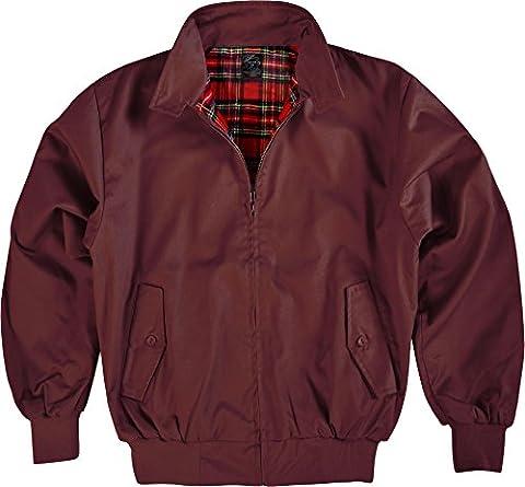 Original GearUp® Harrington Jacke English Style in 12 verschiedenen Designs wählbar Farbe Bordeaux Größe (Charakter Jacken)
