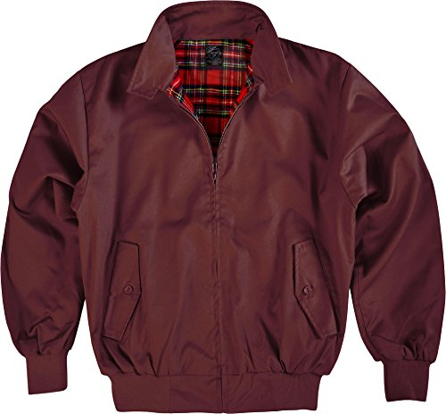 Original GearUp Harrington Jacke English Style in 12 verschiedenen Designs wählbar Farbe Bordeaux Größe 3XL