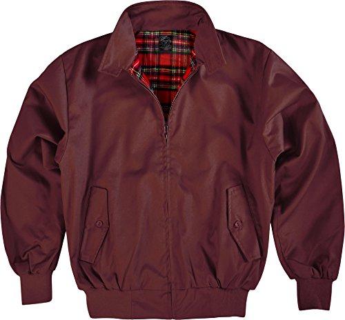 Original GearUp Harrington Jacke English Style in 12 verschiedenen Designs wählbar Farbe Bordeaux Größe L