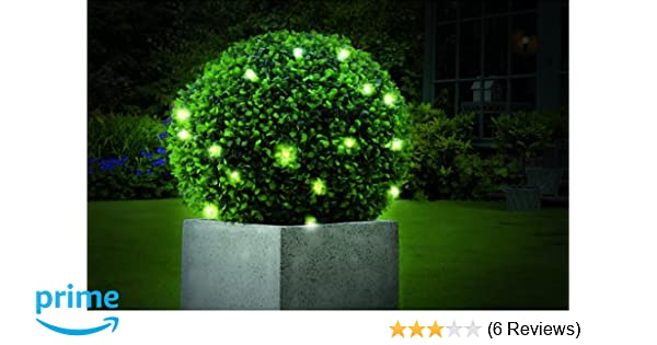 Gardman Pre-lit Topiary Ball Plus 30 Battery Operated LED Lights