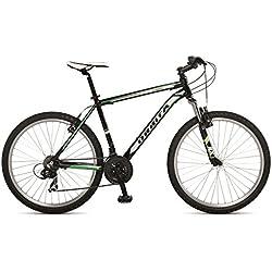 """Orbita EUROPA 26"""" - Bicicleta BTT de montaña para hombre, 21 velocidades, cuadro 15'' aluminio, frenos V-Brake, negro, (155cm -165cm)"""