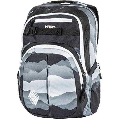 Nitro Snowboards Rucksack Chase, Mountains Black/White, 51 x 37 x 23 cm, 35 Liter, 1131878014 (Camo Snowboard-ausrüstung)
