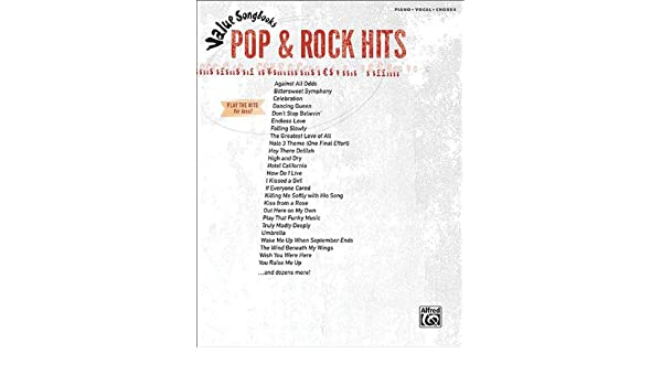 Buy Pop & Rock Hits for Piano/Vocal/Chords (Value Songbooks) Book