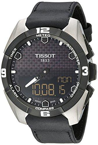 TISSOT T-TOUCH EXPERT SOLAR HERREN-ARMBANDUHR 45MM LEDER T091.420.46.051.00