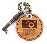 Mr. & Mrs. Panda Rundwelle Schlüsselanhänger Kamera - Kamera, Fotoapperat, Foto Schlüsselanhänger, Anhänger, Taschenanhänger, Glücksbringer, Schlüsselband