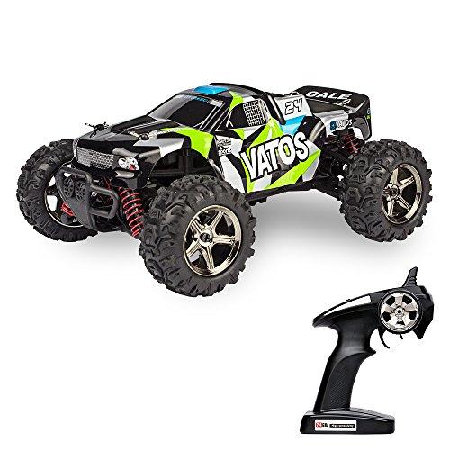 Preisvergleich Produktbild Vatos RC Ferngesteuertes Auto Monster Off Road 4WD 40km/h Im Maßstab 1:24 Fernbedienung 50M 30 Minuten Spieldauer 2.4GHz Elektro Buggy mit wiederaufladbaren Batterien und Akku VL-BG1518C-G (Tarnfarben Grün)