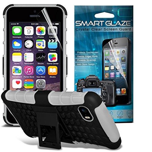 Apple iPhone 4s Élégant en cuir Faux Ceinture Holster Retourner Holder Pouch Cover Case Couleurs variées à choisir par i-Tronixs Tirette ceinture blanche