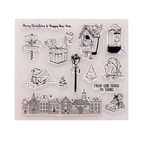 WuLi77 Silikonstempel, Fröhliche Weihnachten Clear Stamps - DIY Stempel Für DIY Album Scrapbooking Photo Card Decor -