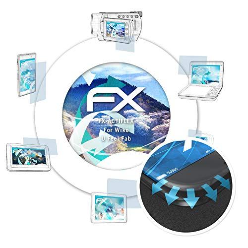 atFolix Schutzfolie passend für Wiko U Feel Fab Folie, ultraklare & Flexible FX Bildschirmschutzfolie (3X)