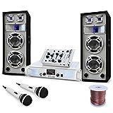 Equipo DJ PA ''Polar Bear'' Mesa de mezclas Altavoces amplificador 2200W