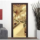 Gosunfly Dekorative Wandaufkleber_3D Kreative Türaufkleber, Selbstklebende Papier Schlafzimmer Wohnzimmer Schloss Ebay