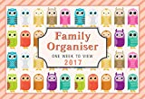 Arpan 2017 Owls family organizer calendar - one week to view- Space For up to 6 People