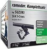 Rameder Komplettsatz, Anhängerkupplung abnehmbar + 13pol Elektrik für Suzuki SX4 S-Cross (124303-11477-1)