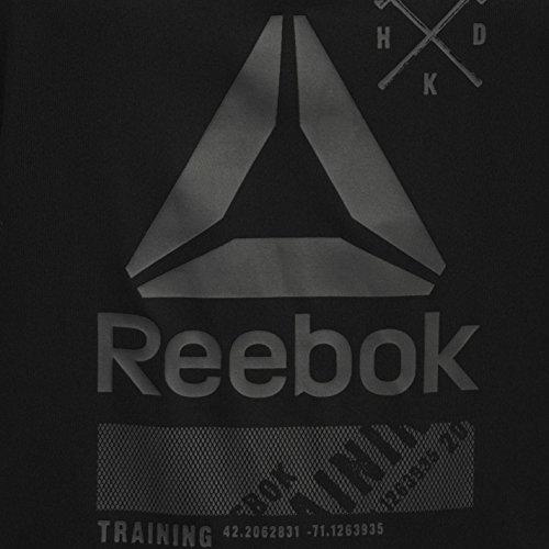 Reebok One Series Activchill Graphique Femme Débardeur Singlet Sans Manches Haut Noir