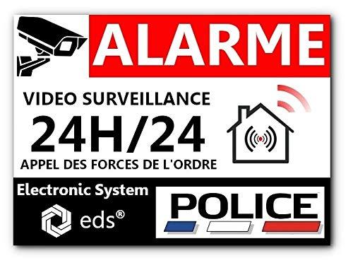 Lot De 8 Autocollants Dissuasifs Alarme Vidéo Surveillance Anti Cambriolage Pour Maison Immeuble Commerce Garage Stickers Vidéo Surveillance De